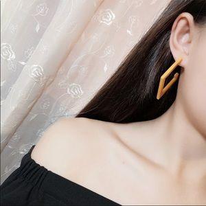 Jewelry - Yellow Acrylic Earrings